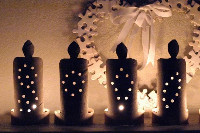 freshly found: DIY Ideas - TP Roll Candles