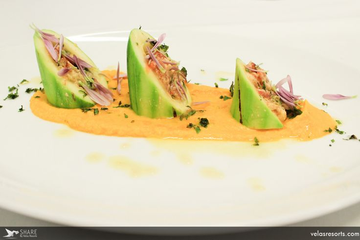 Mexican Zucchini filled with fresh farmer´s cheese over carrot-mint purée #GrandVelas #RivieraNayarit #Dinner #Enjoy