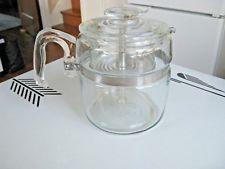 Vintage PYREX Glass FlameWare 6 Cup Coffee Pot Stove Top Percolator 7756 ~ EUC