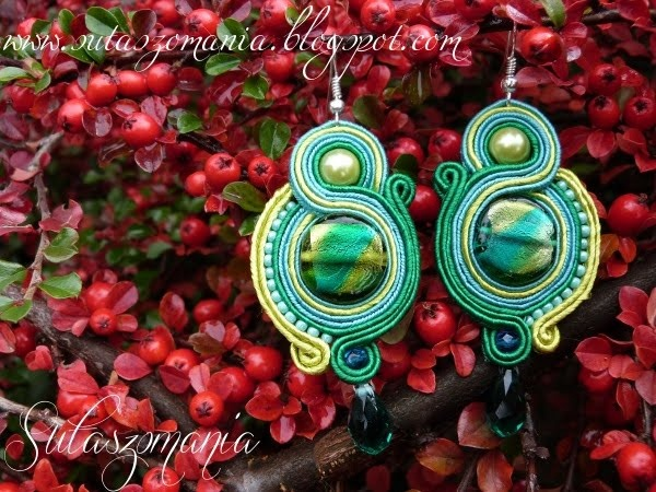 soutache earrings, sutasz, kolczyki