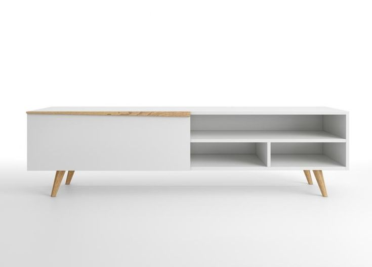Aspen, modern TV sideboard with a drop down door and shelf in 2 finish options