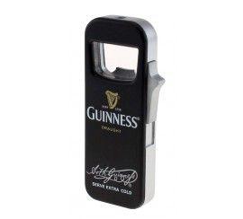 Guinness Refillable Butane Lighter and Bottler Opener, Black Colour