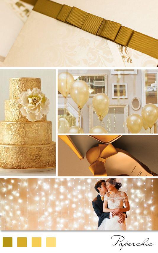 Um casamento em tons dourados fica super chique e elegante, vocês não acham?: