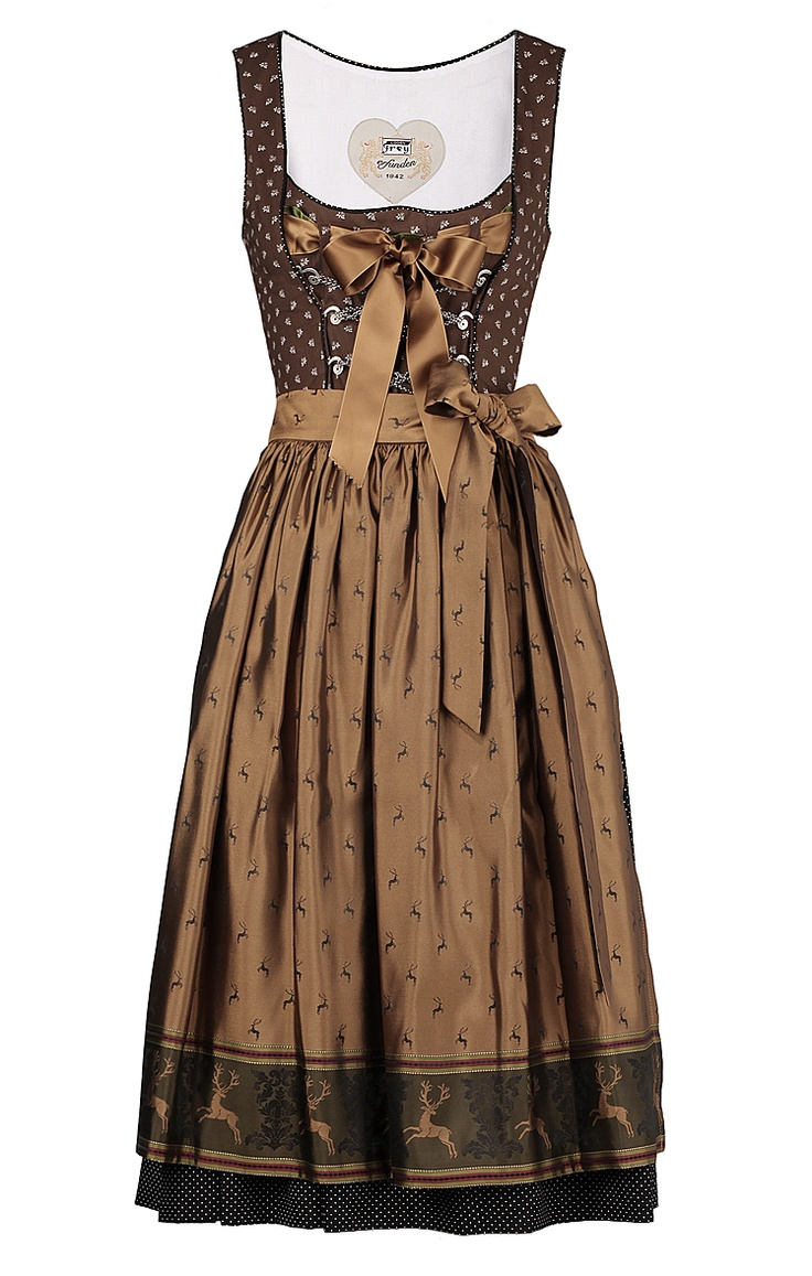 love the deer around the apron hem. I want this, and to be skinny enough to make it look good!