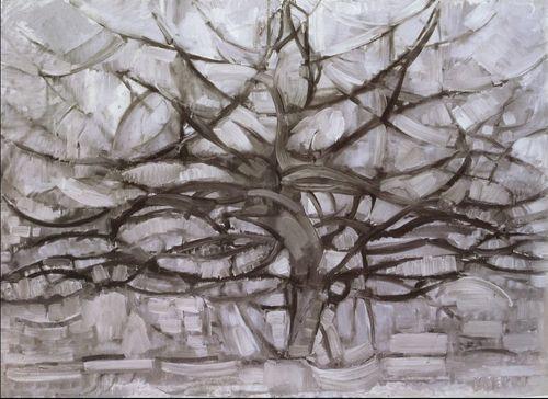 """Piet Mondrian """"L'arbre argenté"""", huile sur toile, 1911"""
