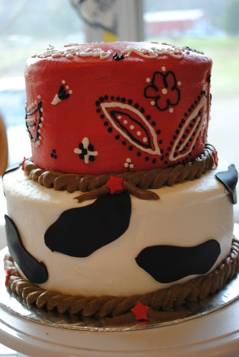 Bandana and Cow Print Cake