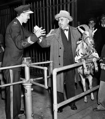 "October 6, 1945: Local Chicago tavern owner William ""Billy"" Sianis and his pet goat were ejected from Wrigley Field during Game 4 of the 1945 World Series. Sianis was irate because he had a ticket for the goat and declared, ""them Cubs, they aren't gonna win no more.""     The Chicago Cubs have yet to appear in the World Series since ""The Curse of the Billy Goat"". Do you buy into sports curses?"