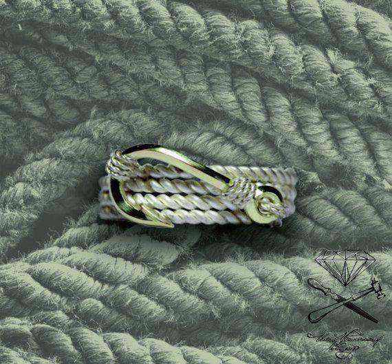 searope knot bend hitch hook от Ustuzhanine на Etsy