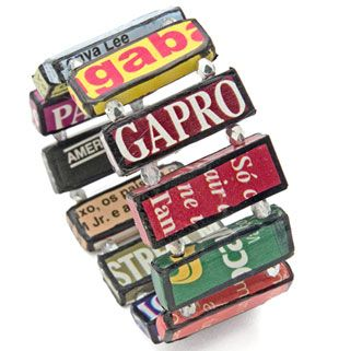 recycled magazines bracelet