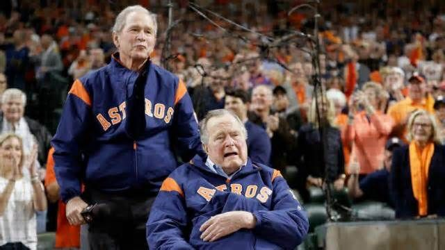 """White House strikes back at Bushes over weak legacy The White House fired back at former Presidents George H.W. Bush and George W. Bush on Saturday, attacking their legacies after both Bushes expressed their displeasure with President Trump in a new book. """"If one presidential candidate can disassemble a ..."""