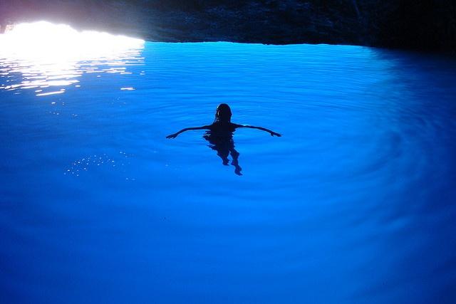 The Famous Blue Cave: #Kasterlorizo Island, #Greece (Also #Castelorizo or #Megisti) the easternmost #Greek Island