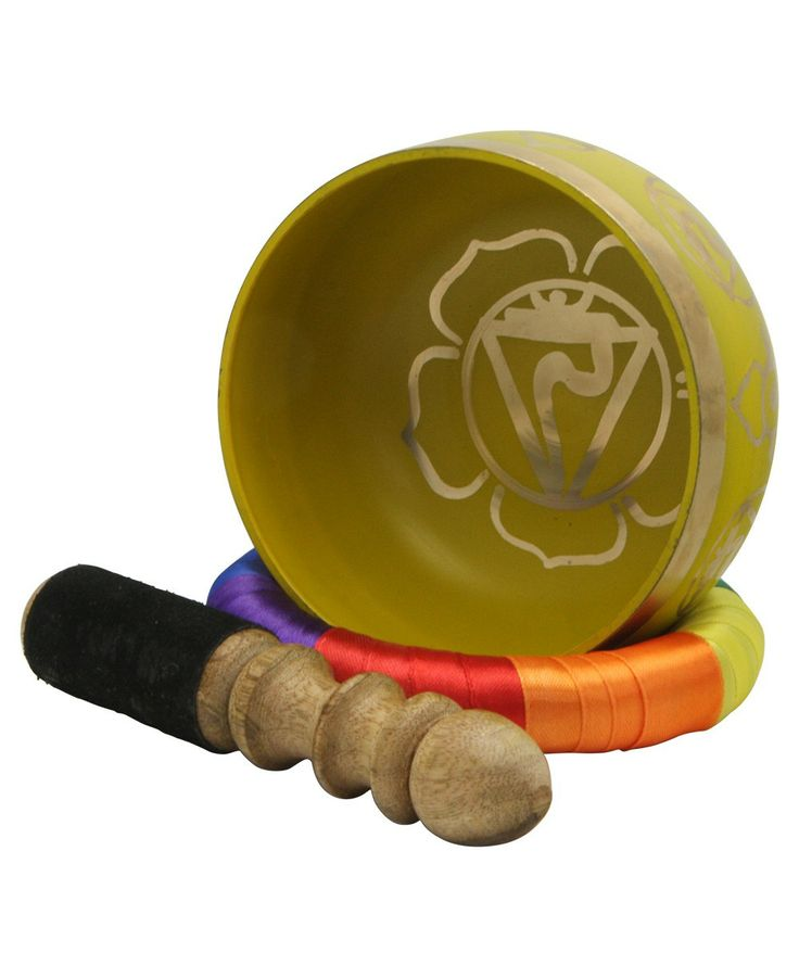 Awaken the chakras with handmade chakra singing bowl from India. Meditation supplies available at BuddhaGroove.com.