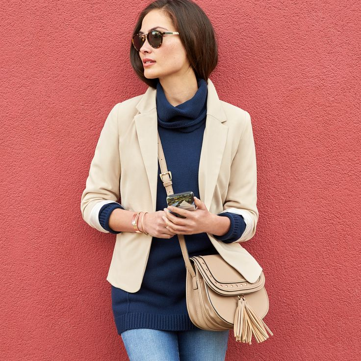 Chic, clean & slimming, the turtleneck is our look du jour. Pair it