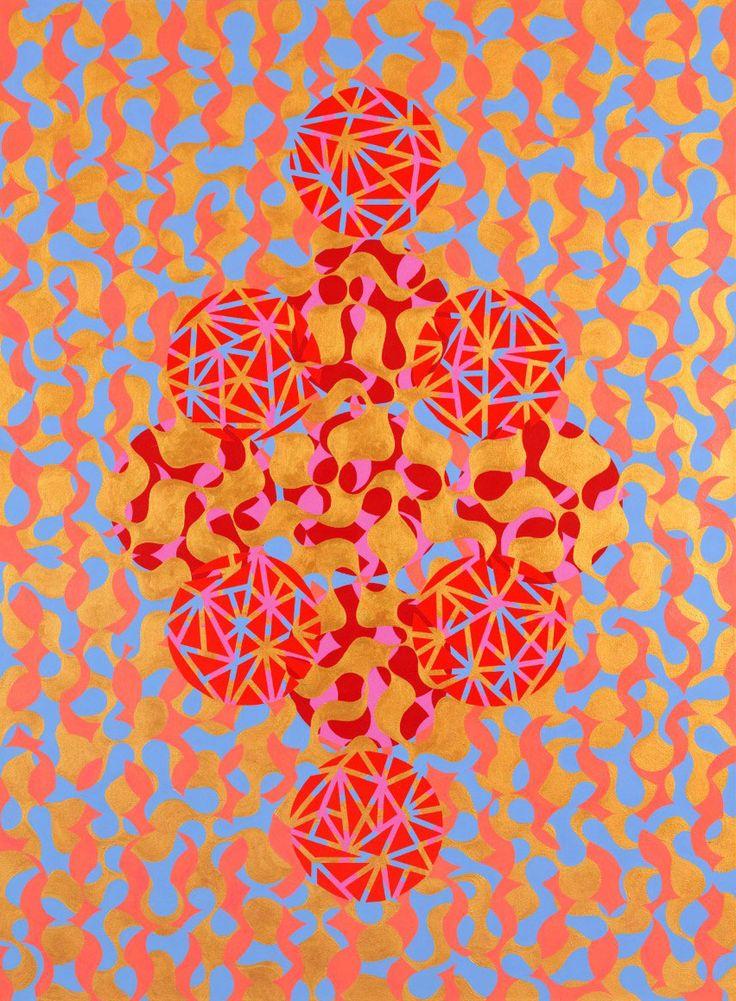 Leena, 2012 by Mari Rantanen. Acrylic and pigment on canvas. For sale, inquiries: sari.seitovirta@seitsemanvirtaa.com / GALERIE SEITSEMÄN VIRTAA