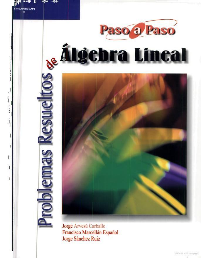 Problemas resueltos de algebra lineal / Jorge Arvesú Carballo, Francisco Marcellán Español, Jorge Sánchez Ruiz