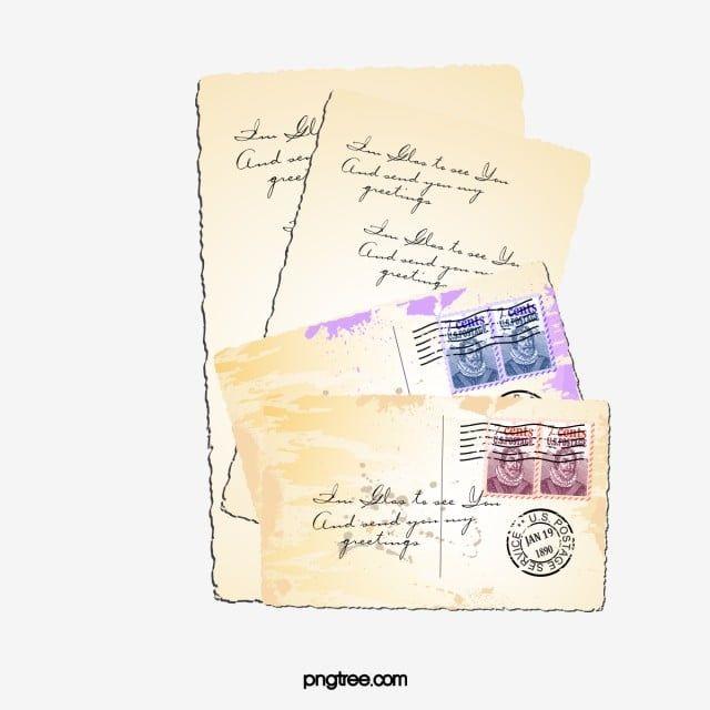 ورقة قديمة رسالة ورق قديم الديكور الرجعية Png وملف Psd للتحميل مجانا Old Paper Letter Paper Lettering