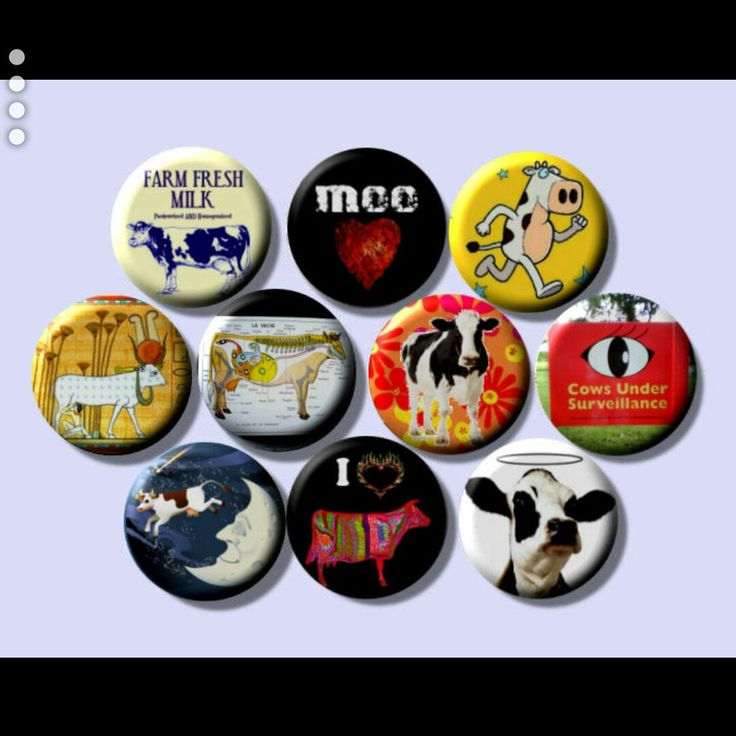 I Love Cows farm animals dairy beef bovine pinback button set by Yesware11 on Etsy.. Click for details!
