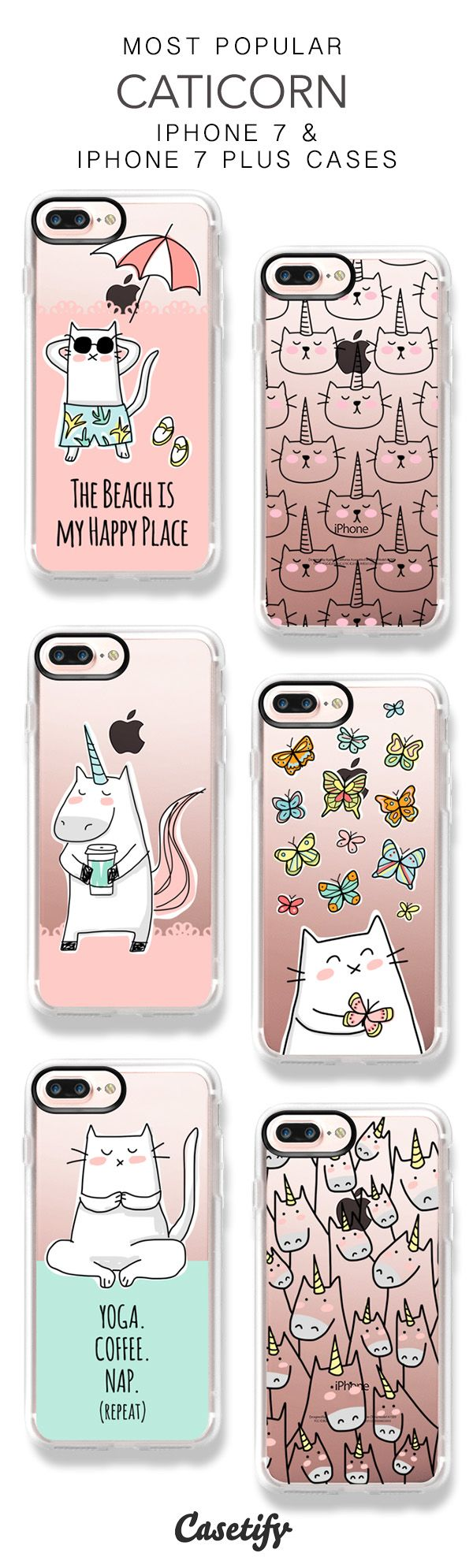 Most Popular Caticorn iPhone 7 Cases & iPhone 7 Plus Cases here > https://www.casetify.com/happycatprints/collection