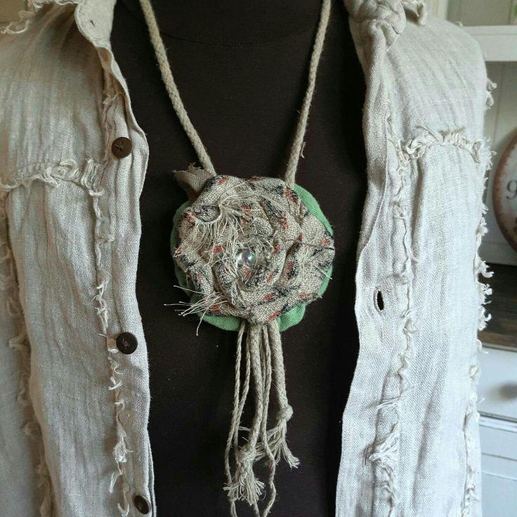linen jewelry handmade linen hit