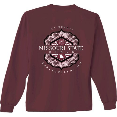 New World Graphics Women's Missouri State University Faux Pocket T-shirt (Red Dark, Size Large) - NCAA Licensed Product, NCAA Women's at Academy Sp...