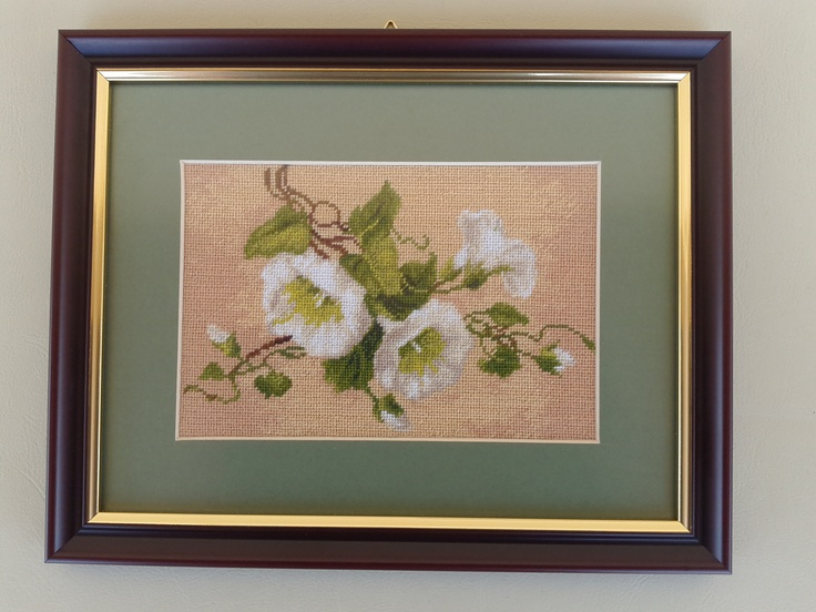 Hand embroidered gobelin-tapestry.