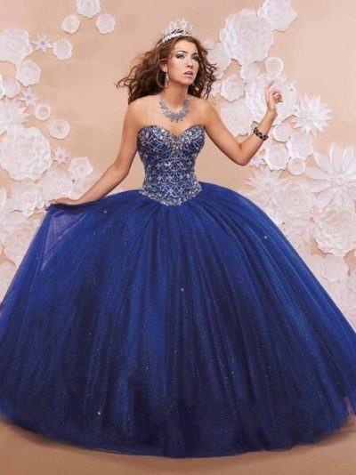 vestidos para debutantes azul marinho