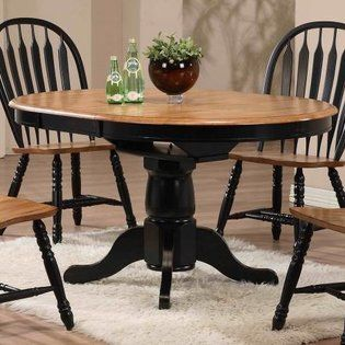 redo of dining table could look like this - Black Kitchen Table