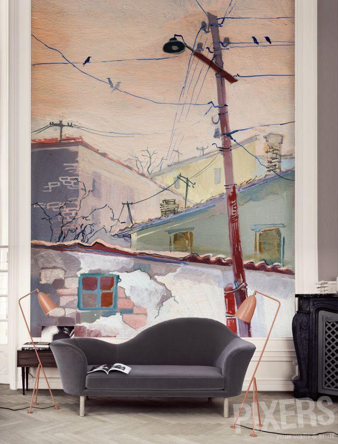 Wonderful wall mural from PIXERS #wallart #interiordesign