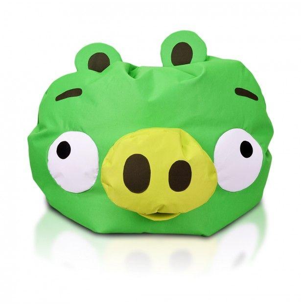 #Minion #Pig von der Serie Angry Birds von Rovio   - SUPER #SITZSACK !!!  #ORIGINAL #FANARTIKEL !!!  Die originellen Angry Birds Sitzsäcke sind schon in unserem #Online-Shop erhältlich! Red, Bomb, Matilda, Blues, Bad Piggies und der Pig King überzeugen durch ansprechende Optik und beste #Behaglichkeit. Die lizenzierten Sitzsäcke aus der Angry Birds Serie zeichnen sich durch erstklassige #Qualität und hochwertige Verarbeitung aus.