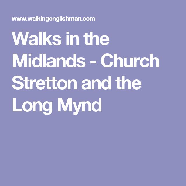 Walks in the Midlands - Church Stretton and the Long Mynd