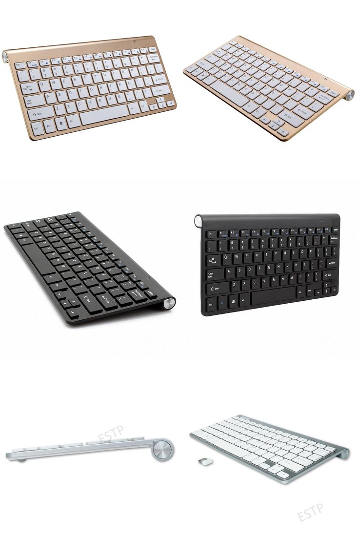[Visit to Buy] 2.4G Ultra Slim For Apple Style teclado Wireless Keyboard Scissors Feet clavier for Mac Windows XP 8 7 10 Vista Android TV Box #Advertisement