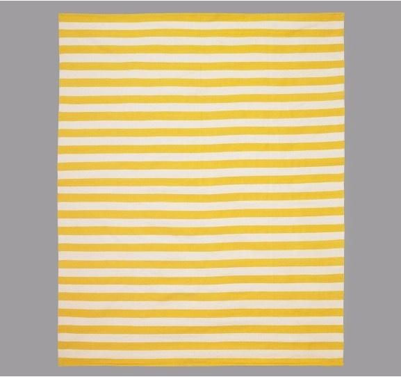 Dwellstudio Draper Stripe Citrine/Cream Rug