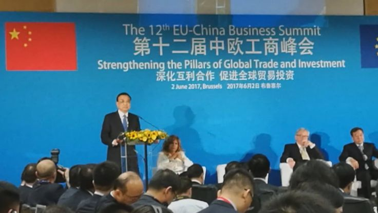 "Li Keqiang delivered a keynote speech at the 12th EU-China Business Summit. Li said China and the European Union are building a stable relationship in response to growing ""uncertainties""."