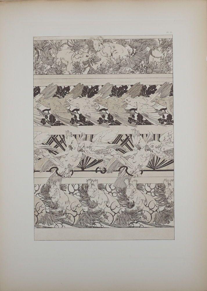 ALPHONSE MUCHA DOCUMENTS DÉCORATIFS ORIGINAL LITHOGRAPH 1902 ART NOUVEAU PL 35 #ArtNouveau