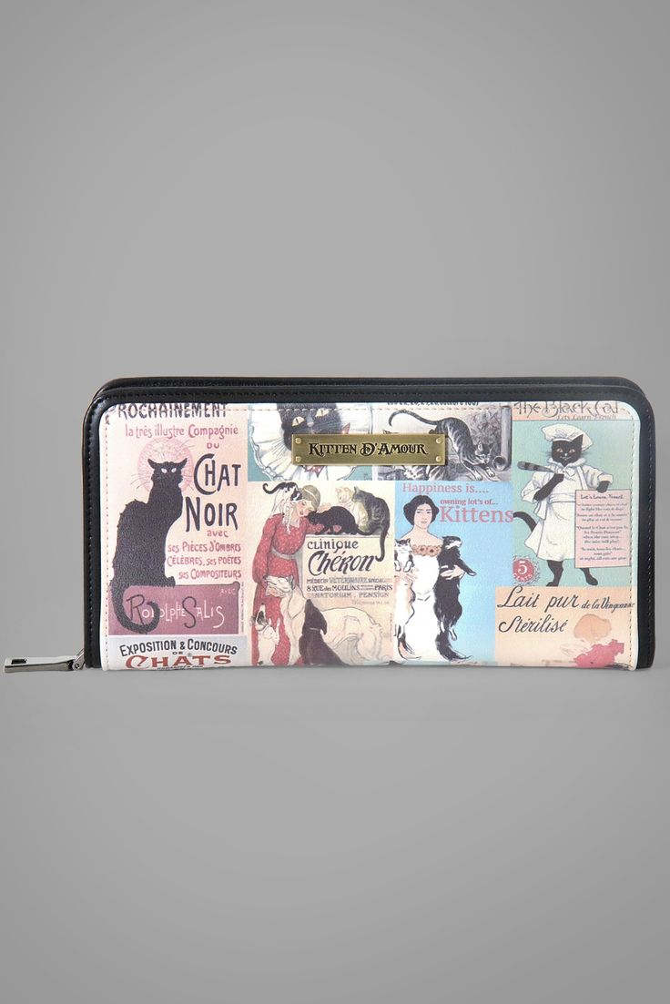 Le Chat Noir Print Wallet