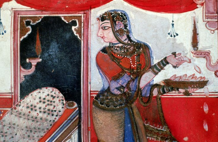 Malasri Ragini (detail). Ragamala, Pigment on paper, India