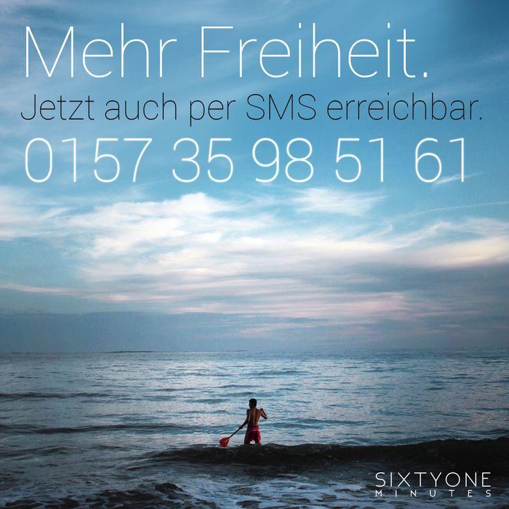 Du lebst. Wir telefonieren, recherchieren, checken Vergleichsportale und übernehmen für Dich die lästigen Bestell- und Buchungsprozesse, um Dir Zeit zu sparen und für Dich immer die beste Lösung zu finden! Alles was Du willst - wo du willst, wann Du willst. Mit #SixtyoneMinutes hast Du mehr von Deiner Zeit! --> Appstore - http://ow.ly/Nbth0 --> SMS an 0157 35 98 51 61 --> WebApp - http://app.sixtyoneminutes.de --> Facebook App (Desktop only) - http://ow.ly/Nbt6O Jetzt kostenlos und…