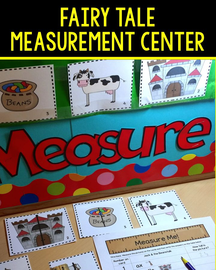 Measurement center with a Jack & the Beanstalk theme would be a perfect addition to your fairy tale, plants, or measurement unit. Students will practice measuring to the nearest quarter inch. Differentiated and easy to set up. paid