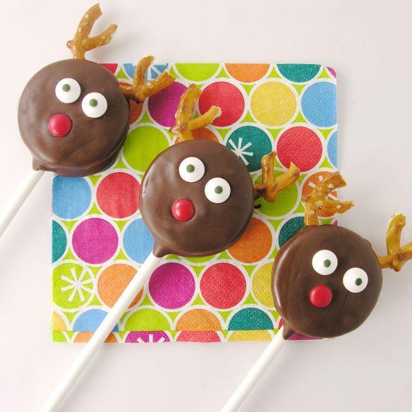 Reindeer Oreo pops