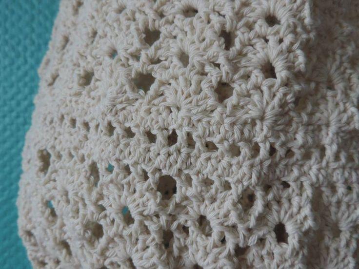 Detail pattern crocheted bags- FB Inushic handmade - Crochet bag - Cross Body Bag -  Beach bag - Over the shoulder bag - Handmade bag  - Summer bag - Market bag - Boho - Vintage - Shabby - Natural material - Recycled yarn - Cotton yarn