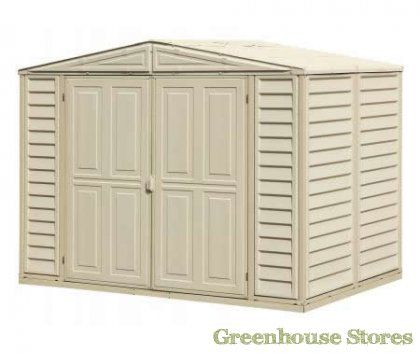 Duramax 8x8 Duramate Plastic Shed   http://www.greenhousestores.co.uk/Duramax-8x8-Duramate-Plastic-Shed.htm