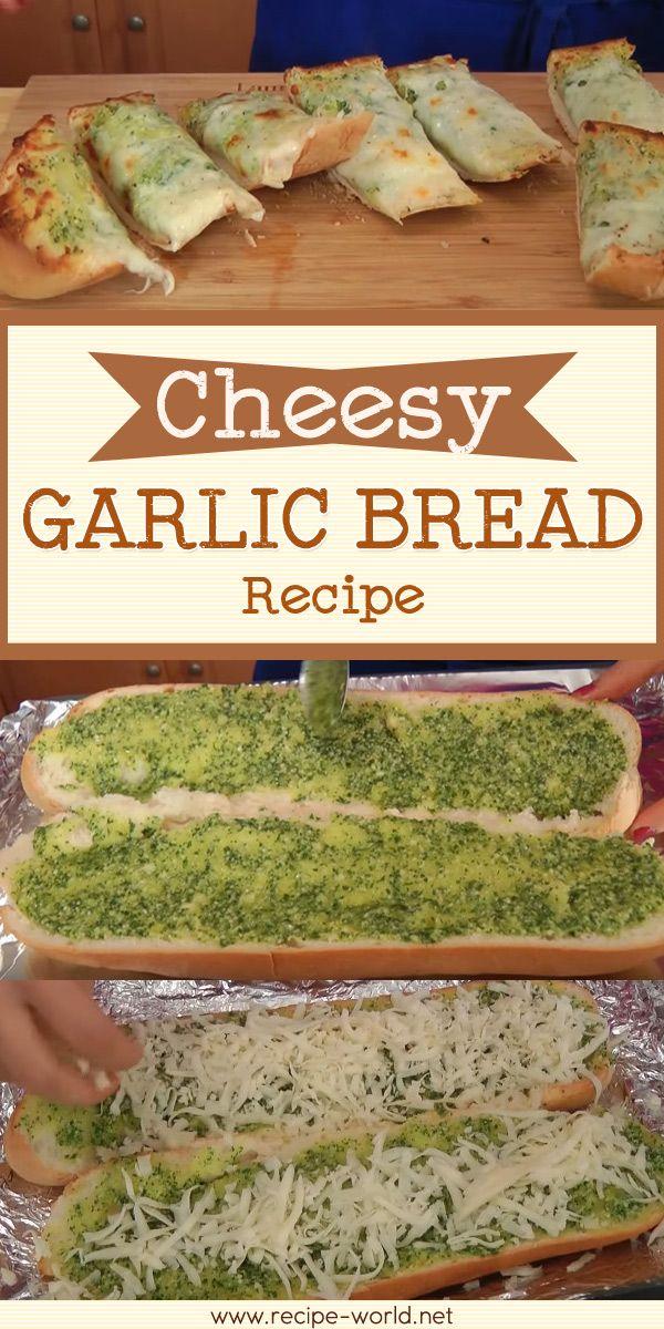 Cheesy Garlic Bread Recipe – Laura Vitale♨http://recipe-world.net/cheesy-garlic-bread-recipe-laura-vitale/?i=p