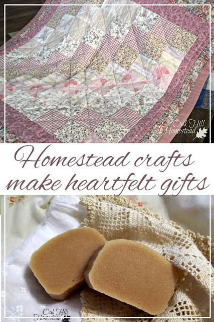 Homestead Crafts make heartfelt gifts. Use your hobbies and skills for handmade …