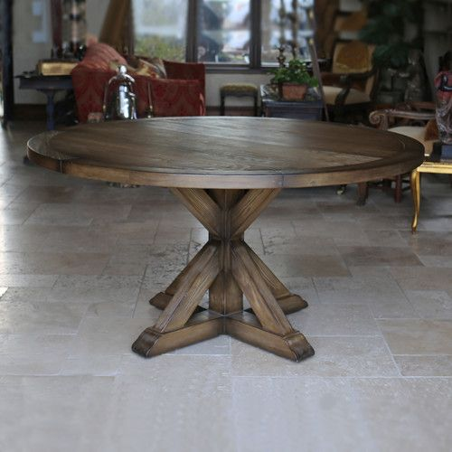Found it at Wayfair - LaRue Reclaimed Wood Round Dining Table