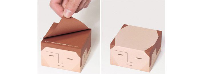 balding post it notes. Some people are so smart!