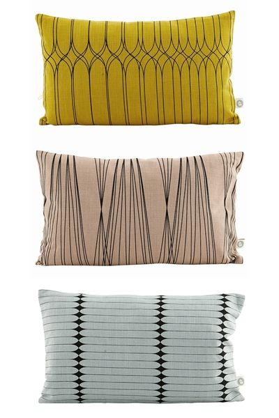 Love the colour palette on these new cushions from House Doctor http://www.lamaisondannag.com/fr/12-coussins