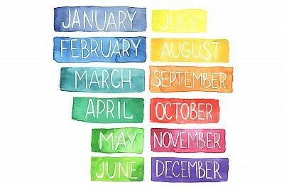 Miesiące po angielsku (zdjęcia, obrazki i wymowa) - Szlifuj swój angielski