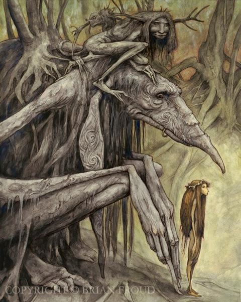 From Brian Froud's book, Trolls.....this painting sort of scares me