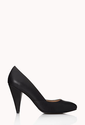 Classic Faux Leather Pumps | FOREVER21 - 2040495767