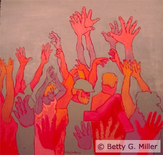 "Deaf Art: Betty Miller ""Celebration"".....for me celebrating family and the holidays!"